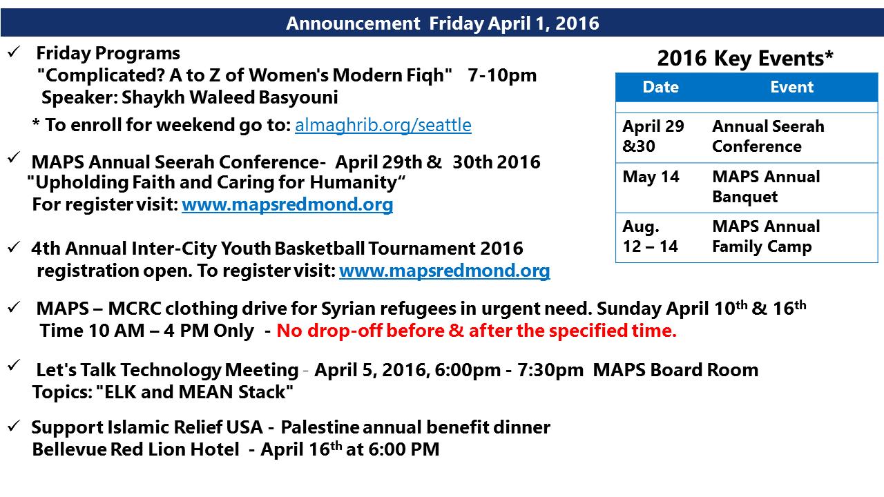 Announcement April 1 2016