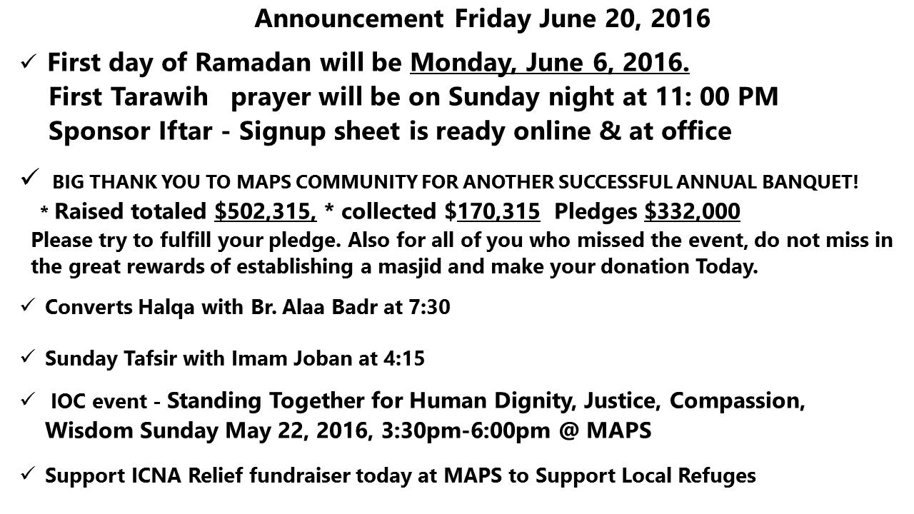 announcement 5 20 2016