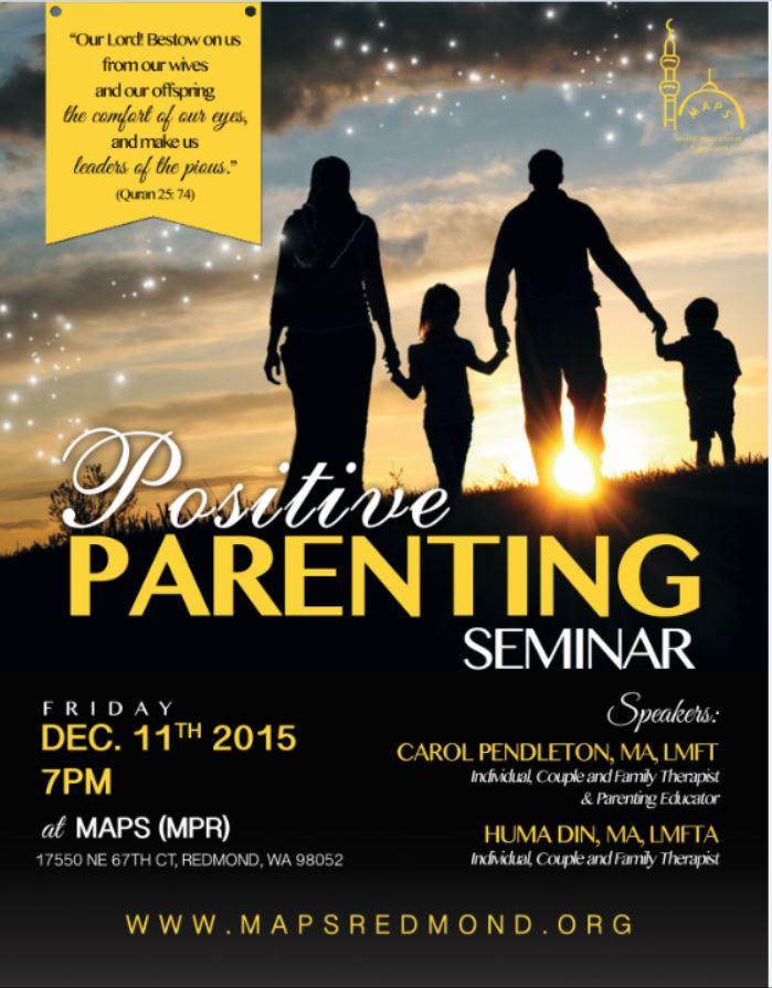 Positive Parenting Seminar Positive Parenting Seminar