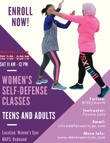 Women's Self-Defense Classes   Muslim Association of Puget Sound