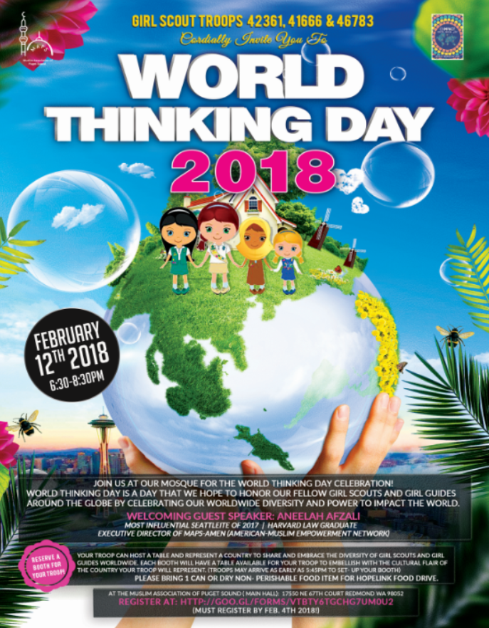 girl scout world thinking day 2018 muslim association of