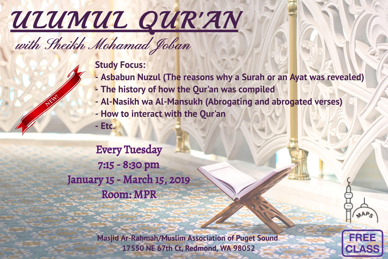 Ulumul Qur'an with Sh  Joban   Muslim Association of Puget
